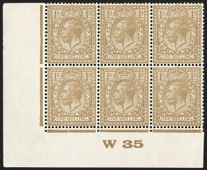 Sale Number 1198, Lot Number 3104, King Edward VII and Later IssuesGREAT BRITAIN, 1935, 1sh Deep Fawn Brown, Harrison Printing (SG Specialised N45(5); SG 429 var; Scott 200 var), GREAT BRITAIN, 1935, 1sh Deep Fawn Brown, Harrison Printing (SG Specialised N45(5); SG 429 var; Scott 200 var)