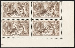 Sale Number 1198, Lot Number 3105, King Edward VII and Later IssuesGREAT BRITAIN, 1918, 2sh6p Reddish Brown, Bradbury Wilkinson Seahorse (SG Specialised N65(4); SG 415; Scott 179b), GREAT BRITAIN, 1918, 2sh6p Reddish Brown, Bradbury Wilkinson Seahorse (SG Specialised N65(4); SG 415; Scott 179b)