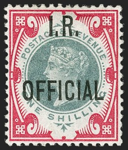 Sale Number 1198, Lot Number 3120, Officials - Inland RevenueGREAT BRITAIN, 1901, 1sh Green & Carmine, I.R. Official (SG Specialised L17; SG O19; Scott O18), GREAT BRITAIN, 1901, 1sh Green & Carmine, I.R. Official (SG Specialised L17; SG O19; Scott O18)
