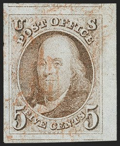 Sale Number 1199, Lot Number 1002, 1847 Issue and Reproductions (Scott 1-4)5c Red Brown (1), 5c Red Brown (1)