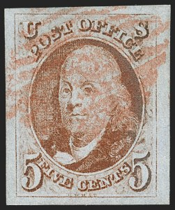 Sale Number 1199, Lot Number 1010, 1847 Issue and Reproductions (Scott 1-4)5c Brown Orange (1d), 5c Brown Orange (1d)