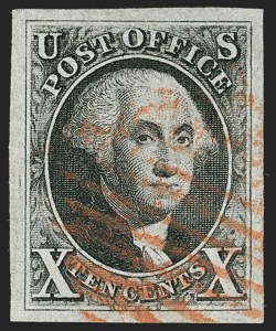 Sale Number 1199, Lot Number 1012, 1847 Issue and Reproductions (Scott 1-4)10c Black (2), 10c Black (2)
