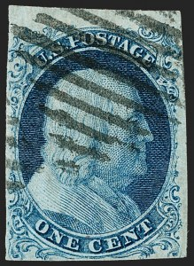 Sale Number 1199, Lot Number 1015, 1c 1851-56 Issue (Scott 5-9)1c Blue, Ty. I (5), 1c Blue, Ty. I (5)