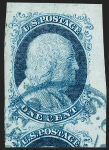 Sale Number 1199, Lot Number 1020, 1c 1851-56 Issue (Scott 5-9)1c Blue, Ty. II (7), 1c Blue, Ty. II (7)