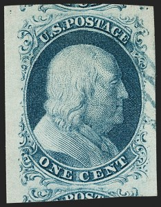 Sale Number 1199, Lot Number 1021, 1c 1851-56 Issue (Scott 5-9)1c Blue, Ty. II (7), 1c Blue, Ty. II (7)