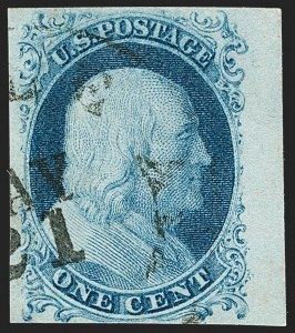 Sale Number 1199, Lot Number 1022, 1c 1851-56 Issue (Scott 5-9)1c Blue, Ty. II (7), 1c Blue, Ty. II (7)