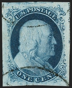 Sale Number 1199, Lot Number 1023, 1c 1851-56 Issue (Scott 5-9)1c Blue, Ty. III (8), 1c Blue, Ty. III (8)