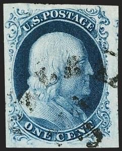 Sale Number 1199, Lot Number 1024, 1c 1851-56 Issue (Scott 5-9)1c Blue, Ty. III (8), 1c Blue, Ty. III (8)