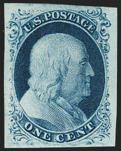 Sale Number 1199, Lot Number 1025, 1c 1851-56 Issue (Scott 5-9)1c Blue, Ty. IIIa (8A), 1c Blue, Ty. IIIa (8A)