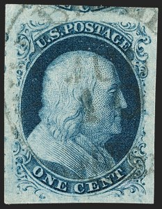 Sale Number 1199, Lot Number 1026, 1c 1851-56 Issue (Scott 5-9)1c Blue, Ty. IIIa (8A), 1c Blue, Ty. IIIa (8A)