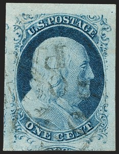 Sale Number 1199, Lot Number 1028, 1c 1851-56 Issue (Scott 5-9)1c Blue, Ty. IV (9), 1c Blue, Ty. IV (9)