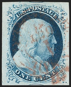 Sale Number 1199, Lot Number 1029, 1c 1851-56 Issue (Scott 5-9)1c Blue, Ty. IV (9), 1c Blue, Ty. IV (9)
