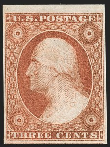 Sale Number 1199, Lot Number 1032, 3c-12c 1851-56 Issue (Scott 10-17)3c Orange Brown, Ty. II (10A), 3c Orange Brown, Ty. II (10A)