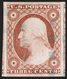 Sale Number 1199, Lot Number 1037, 3c-12c 1851-56 Issue (Scott 10-17)3c Dull Red, Ty. II (11A), 3c Dull Red, Ty. II (11A)