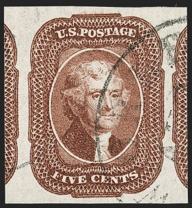 Sale Number 1199, Lot Number 1039, 3c-12c 1851-56 Issue (Scott 10-17)5c Red Brown (12), 5c Red Brown (12)