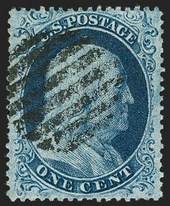 Sale Number 1199, Lot Number 1054, 1c-3c 1857-60 Issue (Scott 18-26)1c Blue, Ty. I (18), 1c Blue, Ty. I (18)