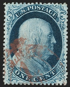 Sale Number 1199, Lot Number 1057, 1c-3c 1857-60 Issue (Scott 18-26)1c Blue, Ty. III (21), 1c Blue, Ty. III (21)