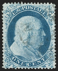 Sale Number 1199, Lot Number 1059, 1c-3c 1857-60 Issue (Scott 18-26)1c Blue, Ty. IIIa (22), 1c Blue, Ty. IIIa (22)