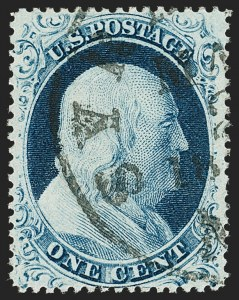 Sale Number 1199, Lot Number 1061, 1c-3c 1857-60 Issue (Scott 18-26)1c Blue, Ty. IV (23), 1c Blue, Ty. IV (23)