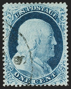 Sale Number 1199, Lot Number 1062, 1c-3c 1857-60 Issue (Scott 18-26)1c Blue, Ty. IV (23), 1c Blue, Ty. IV (23)