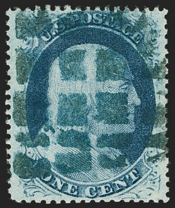 Sale Number 1199, Lot Number 1063, 1c-3c 1857-60 Issue (Scott 18-26)1c Blue, Ty. V (24), 1c Blue, Ty. V (24)
