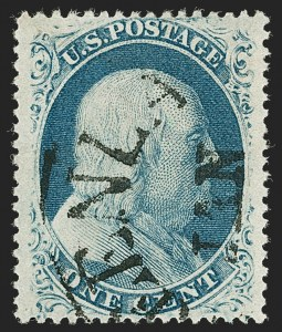Sale Number 1199, Lot Number 1064, 1c-3c 1857-60 Issue (Scott 18-26)1c Blue, Ty. Va (24 var), 1c Blue, Ty. Va (24 var)