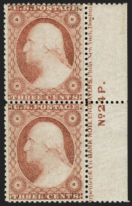 Sale Number 1199, Lot Number 1066, 1c-3c 1857-60 Issue (Scott 18-26)3c Dull Red, Ty. III (26), 3c Dull Red, Ty. III (26)