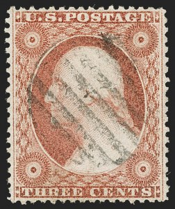 Sale Number 1199, Lot Number 1068, 1c-3c 1857-60 Issue (Scott 18-26)3c Dull Red, Ty. III (26), 3c Dull Red, Ty. III (26)