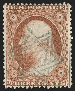 Sale Number 1199, Lot Number 1070, 1c-3c 1857-60 Issue (Scott 18-26)3c Dull Red, Ty. III (26), 3c Dull Red, Ty. III (26)