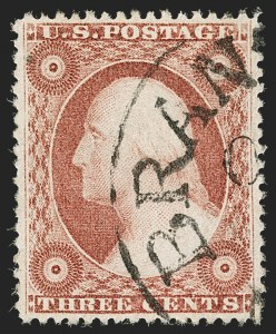 Sale Number 1199, Lot Number 1072, 1c-3c 1857-60 Issue (Scott 18-26)3c Dull Red, Ty. IV (26A), 3c Dull Red, Ty. IV (26A)