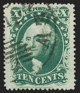 Sale Number 1199, Lot Number 1088, 5c-30c 1857-60 Issue (Scott 27-38)10c Green, Ty. V (35), 10c Green, Ty. V (35)