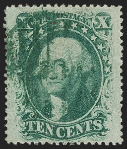 Sale Number 1199, Lot Number 1089, 5c-30c 1857-60 Issue (Scott 27-38)10c Green, Ty. V (35), 10c Green, Ty. V (35)