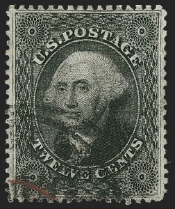 Sale Number 1199, Lot Number 1091, 5c-30c 1857-60 Issue (Scott 27-38)12c Black, Plate 3 (36B), 12c Black, Plate 3 (36B)