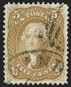 Sale Number 1199, Lot Number 1119, 1861-66 Issue (Scott 67-78)5c Buff (67), 5c Buff (67)