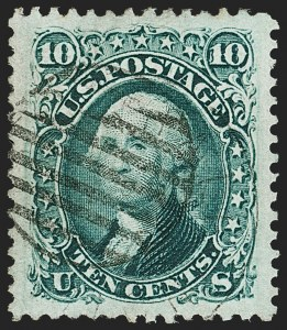 Sale Number 1199, Lot Number 1121, 1861-66 Issue (Scott 67-78)10c Green (68), 10c Green (68)