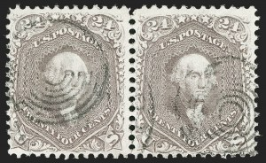 Sale Number 1199, Lot Number 1127, 1861-66 Issue (Scott 67-78)24c Brown Lilac (70a), 24c Brown Lilac (70a)