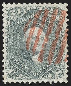 Sale Number 1199, Lot Number 1128, 1861-66 Issue (Scott 67-78)24c Steel Blue (70b), 24c Steel Blue (70b)