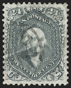 Sale Number 1199, Lot Number 1130, 1861-66 Issue (Scott 67-78)24c Pale Gray Violet, Thin Paper (70d), 24c Pale Gray Violet, Thin Paper (70d)