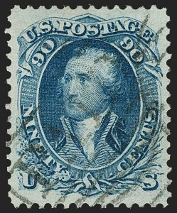 Sale Number 1199, Lot Number 1133, 1861-66 Issue (Scott 67-78)90c Blue (72), 90c Blue (72)