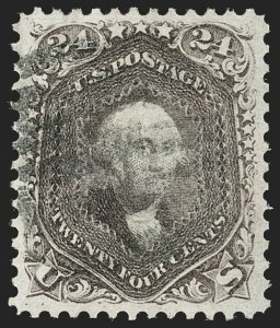 Sale Number 1199, Lot Number 1142, 1861-66 Issue (Scott 67-78)24c Red Lilac (70), 24c Red Lilac (70)