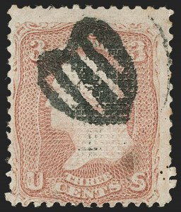 Sale Number 1199, Lot Number 1144, 1867-68 Grilled Issue (Scott 79-101)3c Rose, C. Grill (83), 3c Rose, C. Grill (83)