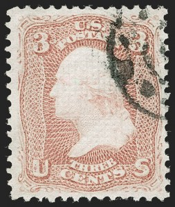 Sale Number 1199, Lot Number 1146, 1867-68 Grilled Issue (Scott 79-101)3c Rose, D. Grill (85), 3c Rose, D. Grill (85)