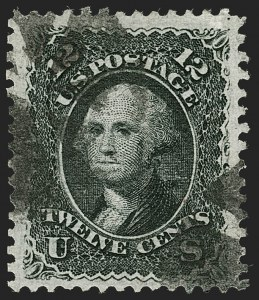 Sale Number 1199, Lot Number 1150, 1867-68 Grilled Issue (Scott 79-101)12c Black, Z. Grill (85E), 12c Black, Z. Grill (85E)