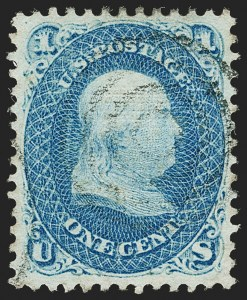 Sale Number 1199, Lot Number 1152, 1867-68 Grilled Issue (Scott 79-101)1c Blue, E. Grill (86), 1c Blue, E. Grill (86)
