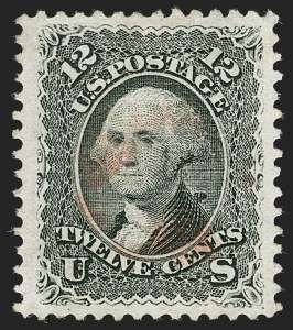 Sale Number 1199, Lot Number 1156, 1867-68 Grilled Issue (Scott 79-101)12c Black, E. Grill (90), 12c Black, E. Grill (90)