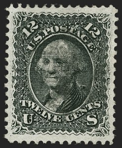 Sale Number 1199, Lot Number 1157, 1867-68 Grilled Issue (Scott 79-101)12c Black, E. Grill (90), 12c Black, E. Grill (90)