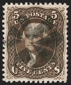 Sale Number 1199, Lot Number 1160, 1867-68 Grilled Issue (Scott 79-101)5c Black Brown, F. Grill (95a), 5c Black Brown, F. Grill (95a)