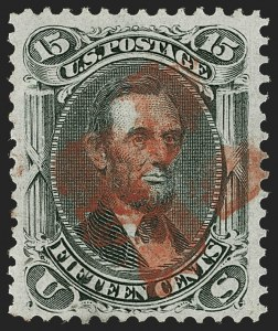 Sale Number 1199, Lot Number 1167, 1867-68 Grilled Issue (Scott 79-101)15c Black, F. Grill (98), 15c Black, F. Grill (98)