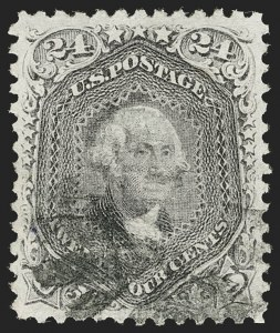 Sale Number 1199, Lot Number 1168, 1867-68 Grilled Issue (Scott 79-101)24c Gray Lilac, F. Grill (99), 24c Gray Lilac, F. Grill (99)