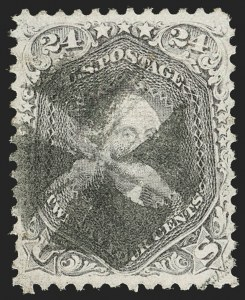 Sale Number 1199, Lot Number 1169, 1867-68 Grilled Issue (Scott 79-101)24c Gray Lilac, F. Grill (99), 24c Gray Lilac, F. Grill (99)